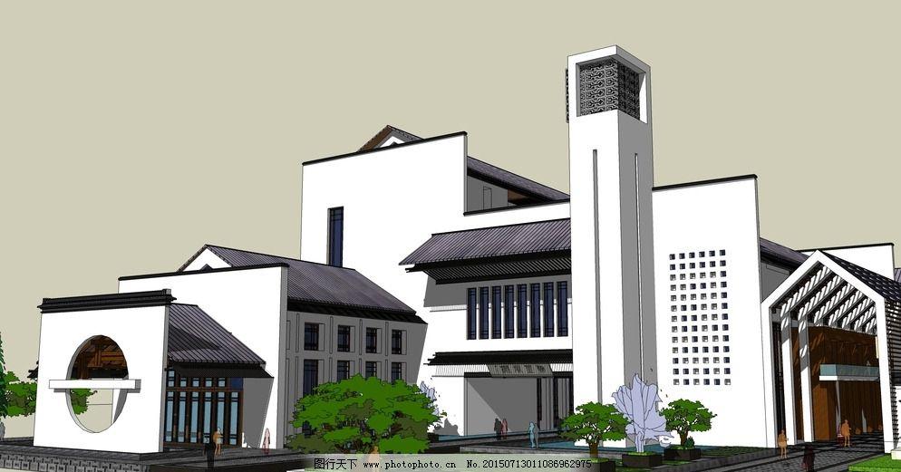 新中式风格 周熙鵾 草图模型图片_建筑设计_装饰素材
