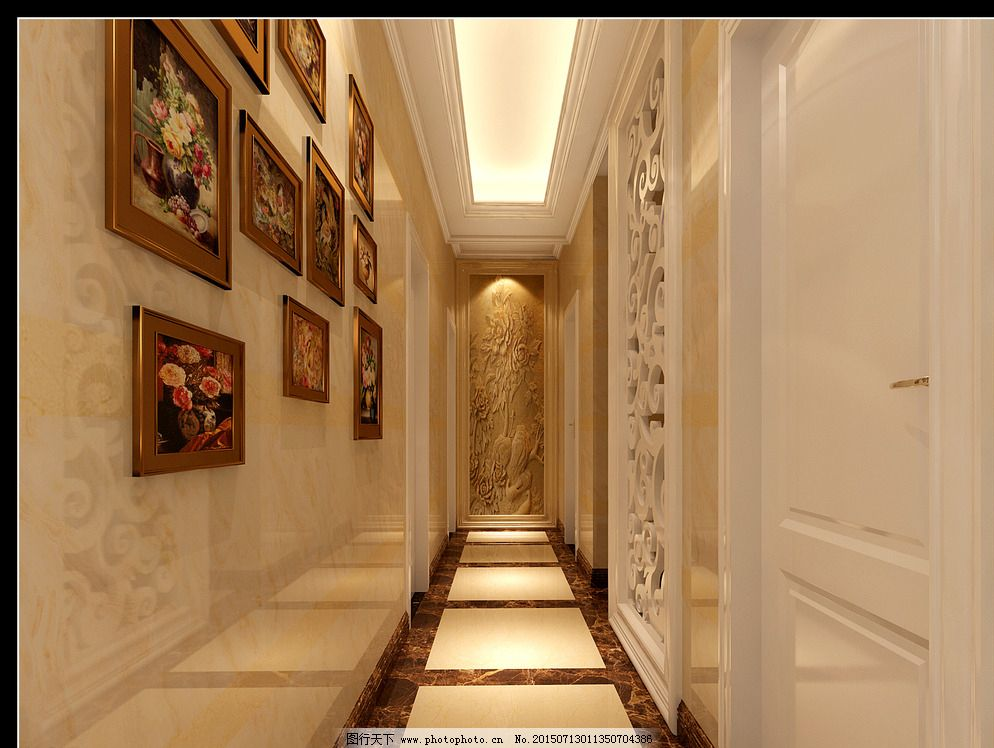 设计 室内设计 室内效果 室内效果图 走廊 过道 走廊 室内效果 大理石