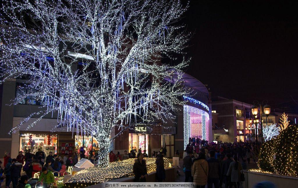 商业街夜景 步行街 购物 灯饰 城市亮化 购物街 北京夜景 建筑景观