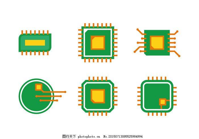 电路板 矢量图 ai 彩色 绿色 eps 白色 eps