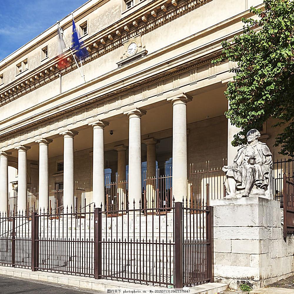 雕塑人物欧式建筑 国外风景名胜 城市风景 建筑设计 建筑景观 旅游