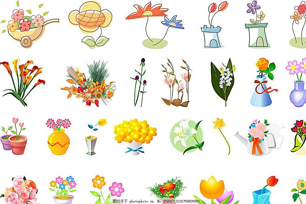 鲜花 植物 花卉 壁纸墙纸 移门图案 礼物包装纸 卡通动物 布纹印花