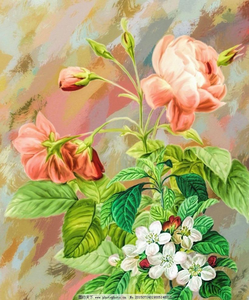 鲜花 花卉 静物 花卉静物 油画花卉 静物花卉 花卉水彩 油画 设计