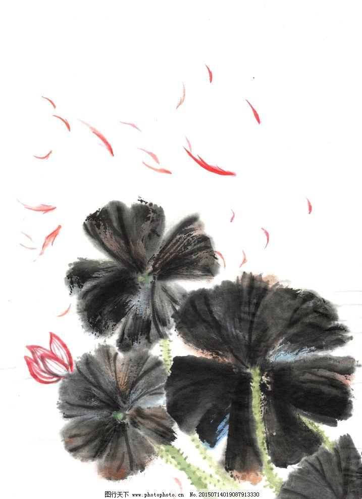 中国画 中国 传统 绘画 花卉 设计 文化艺术 绘画书法 600dpi jp-白描花