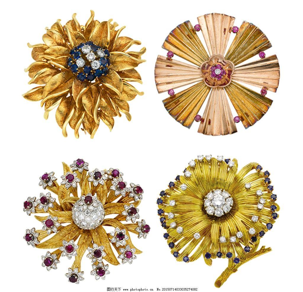 宝石镶嵌 水晶镶嵌 钻石镶嵌 花卉胸针 菊花胸针 珠宝首饰 设计 psd