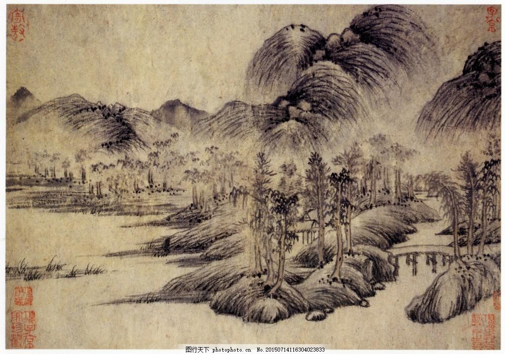 中国古画山水图片