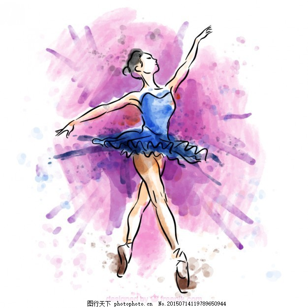 手绘芭蕾舞者