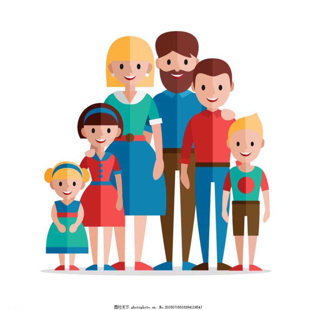 可爱的一家人 孩子 可爱家庭 快乐家庭 父母 儿子 爸爸 妈妈 家 一