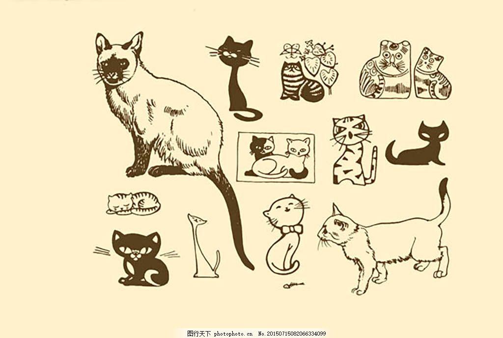 日本水彩手绘素材免费下载 猫 日本 日系 水彩 素材 小清新 樱花 psd