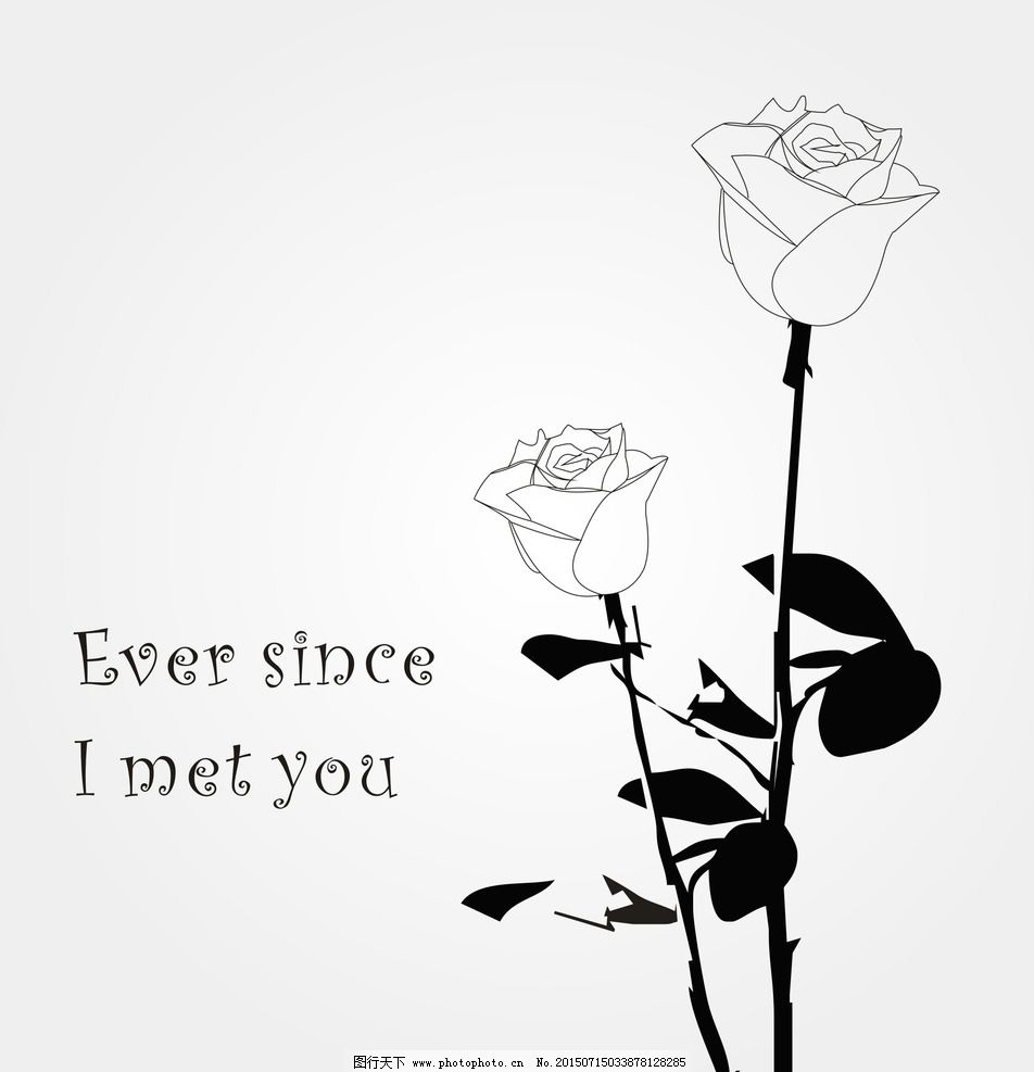 手绘玫瑰 手绘 玫瑰 黑白 线条美 线条美玫瑰 设计 其他 图片素材 cdr