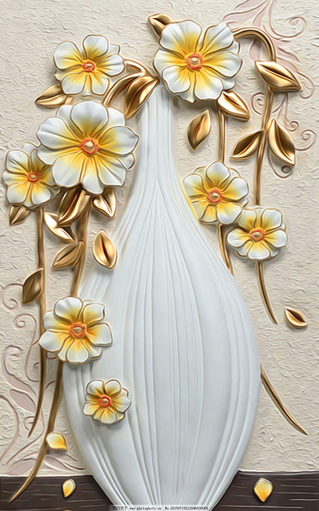 欧式浮雕花瓶