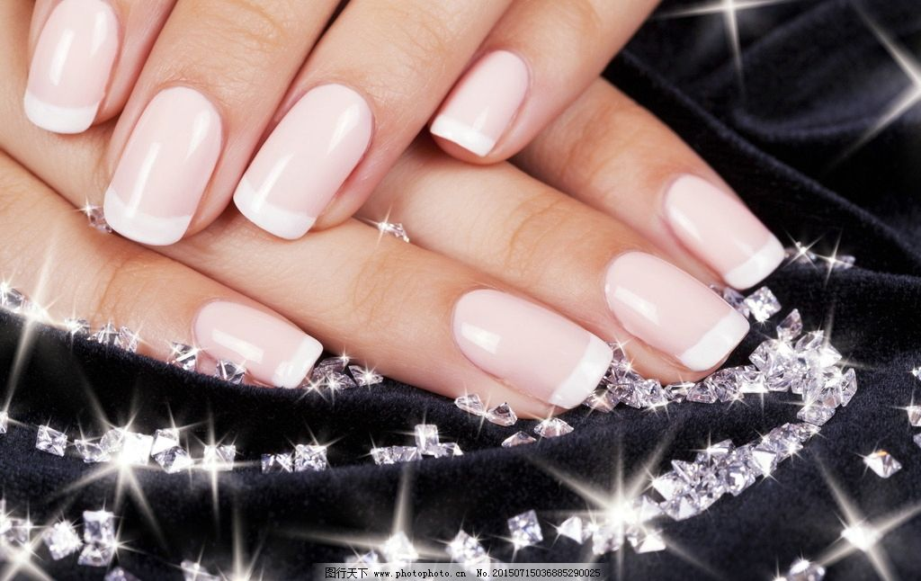 钻石 粉色美甲 粉色 美甲
