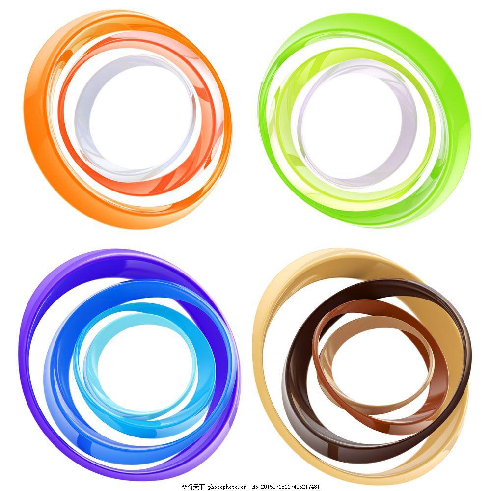 彩色大小圆环图片