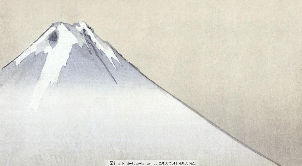 富士山 日本 手绘 简朴 日绘 设计 文化艺术 绘画书法 72dpi jpg 白色