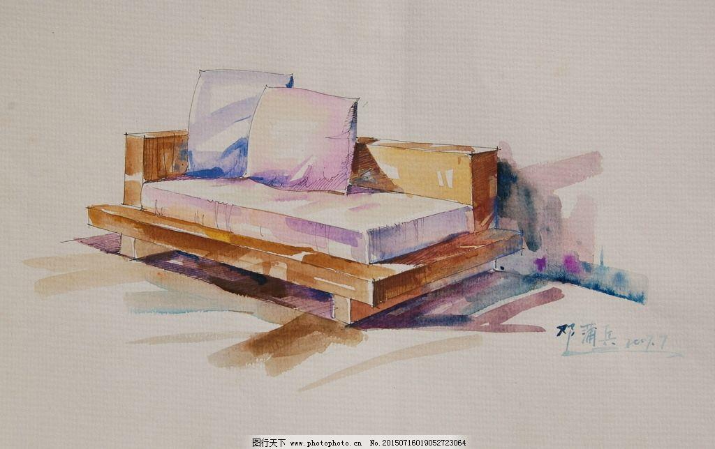 沙发设计手绘图片