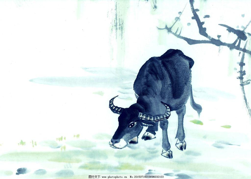 手绘十二生肖 牛图片