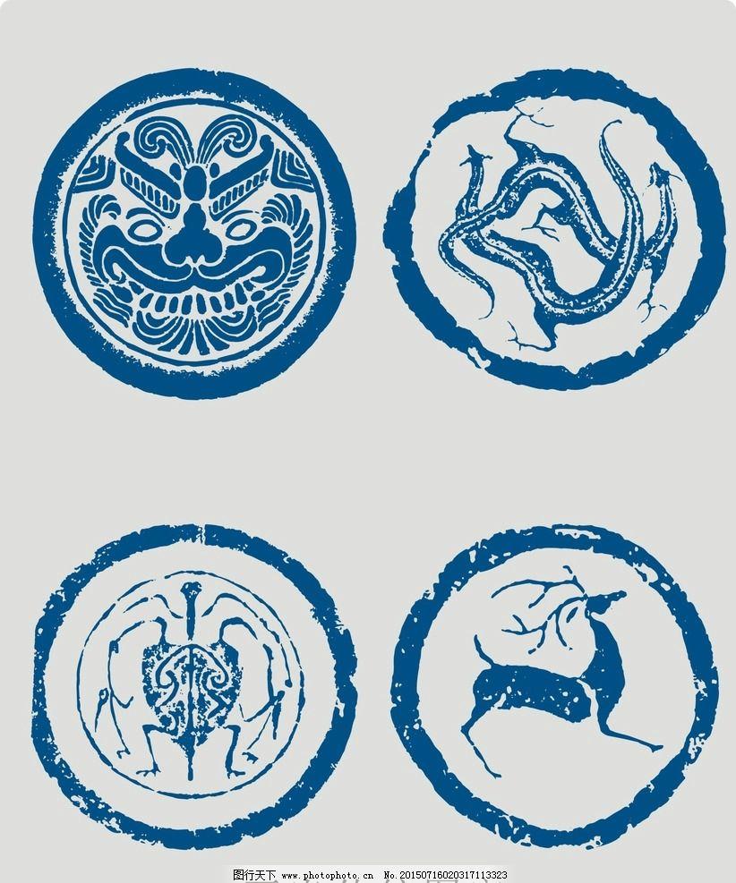 花边花纹 cdr 中国传统 中国风 动物 底纹边框 矢量素材 设计 底纹