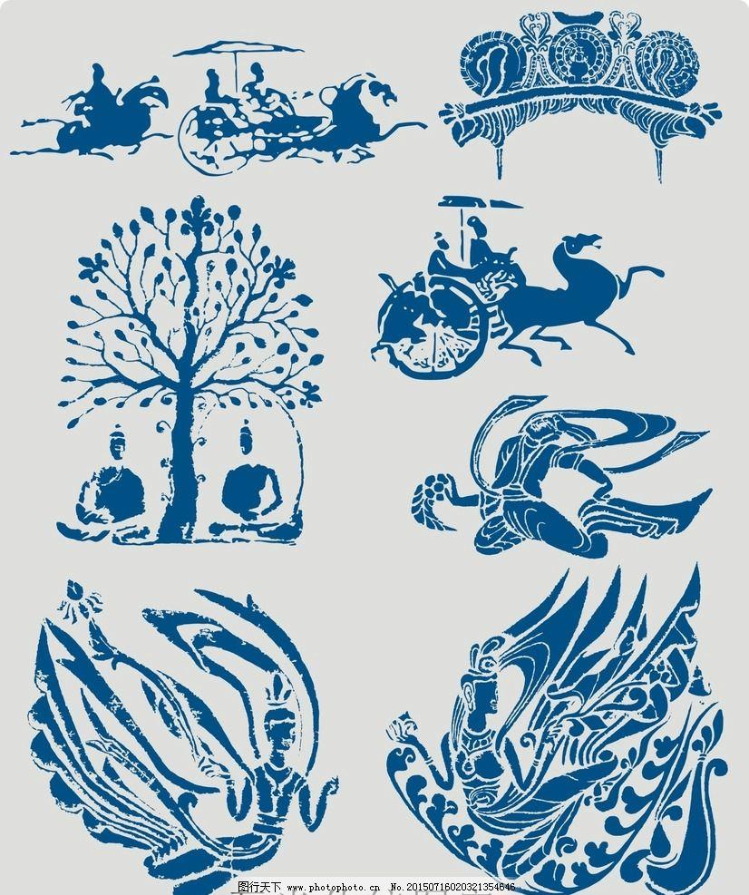矢量 瓦当 传统图案 图案 圆形 矢量图 历史 传统 古代 古典 文化