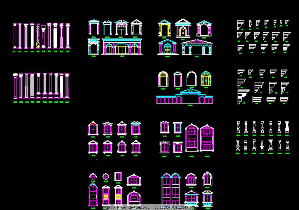 欧式建筑构件图片_室内模型