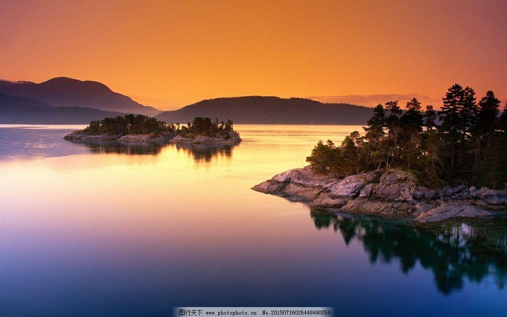 自然风景免费下载 风景 湖泊 小岛 风景 湖泊 小岛 图片素材 风景