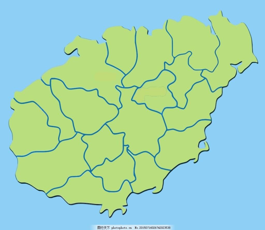 海南岛纯净轮廓