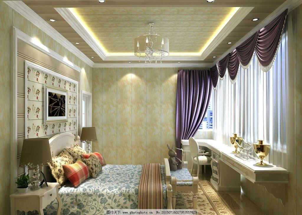 卧室效果图 集成墙面        装修效果图 家装效果图 欧式效果图 欧式