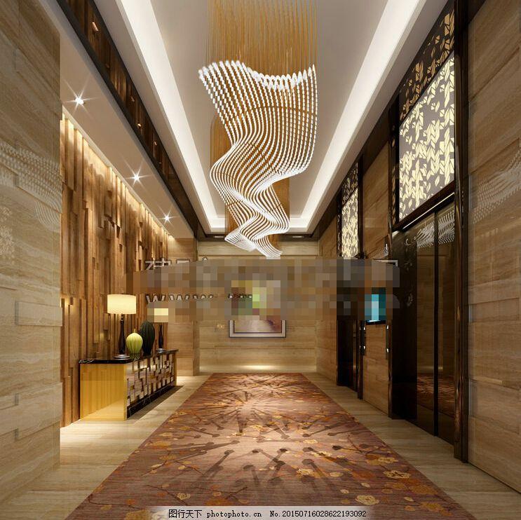 欧式风格 设计 室内设计 室内效果图 室内设计酒店电梯间设计设计素材