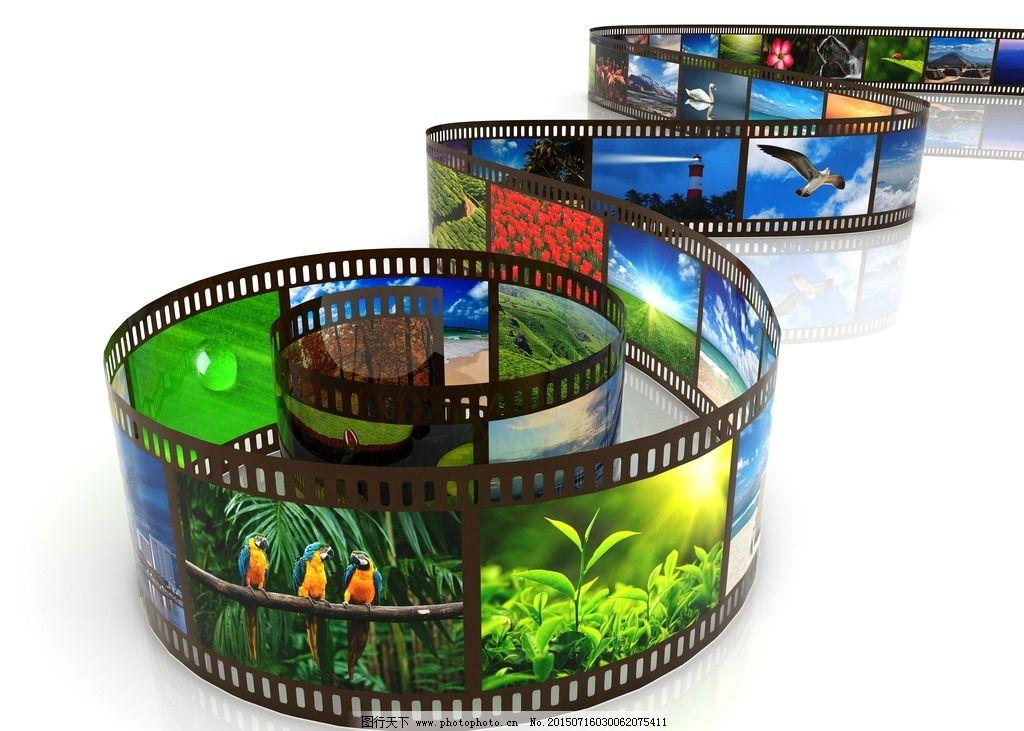 胶卷 胶卷素材下载 胶卷模板下载 胶片 底片 造型 形状 动物 风景