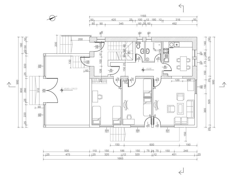 楼房平面图 楼房平面图免费下载 建筑 建筑图纸 室内 图纸素材