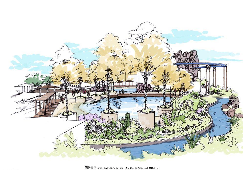 景观设计 设计 手绘 水上乐园        手绘 总平面 景观设计 环境艺术