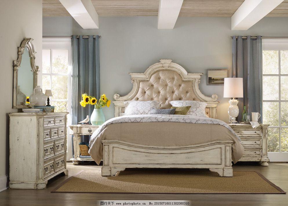 欧式家具床图片_室内设计