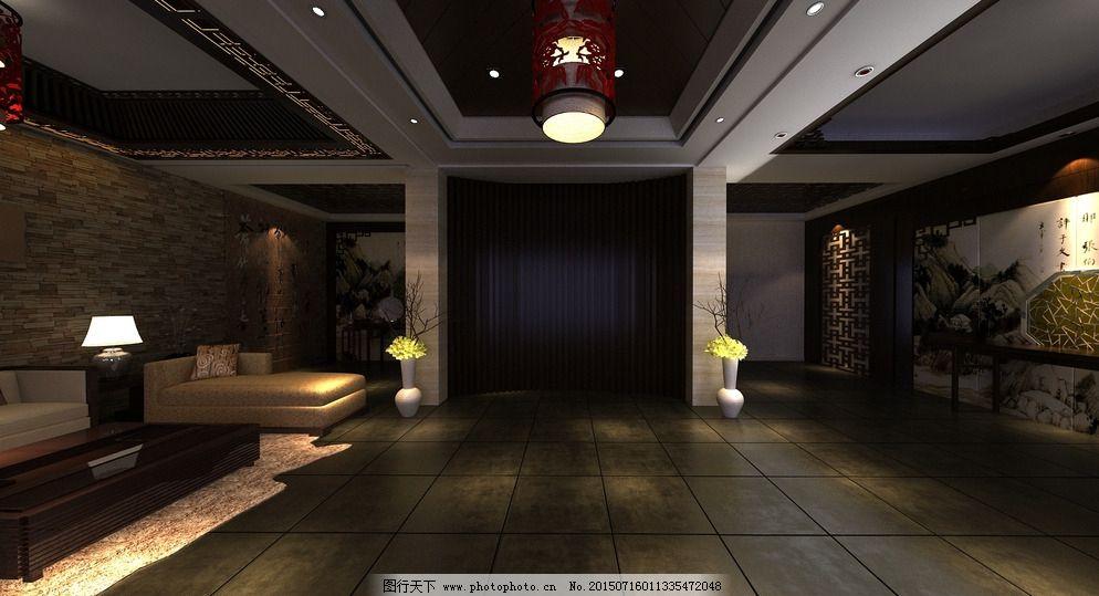 中式会所大厅效果图片免费下载 72dpi jpg 茶楼 大厅 环境设计 会所