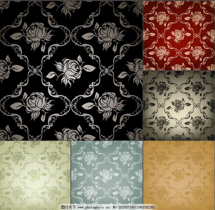 大方欧式玫瑰花背景_壁纸墙画