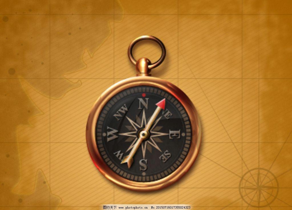 指南针矢量图标 矢量指南针 卡通 立体 时钟 小图标 标识标志图标