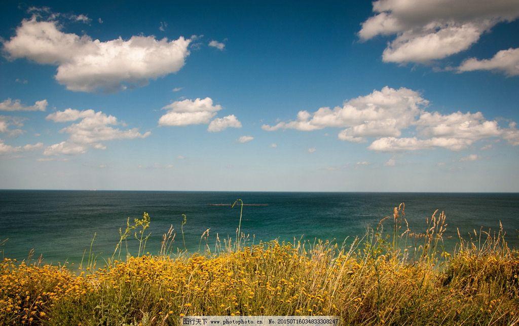 大海天空 大海 天空 蓝天 海边 白云 摄影 自然景观 自然风景 240dpi
