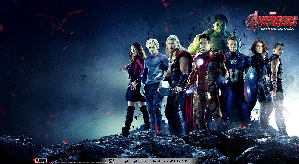 巨人大战钢铁侠_复仇者联盟2 漫威 电影 钢铁侠 美国队长 雷神 绿巨人 黑寡妇