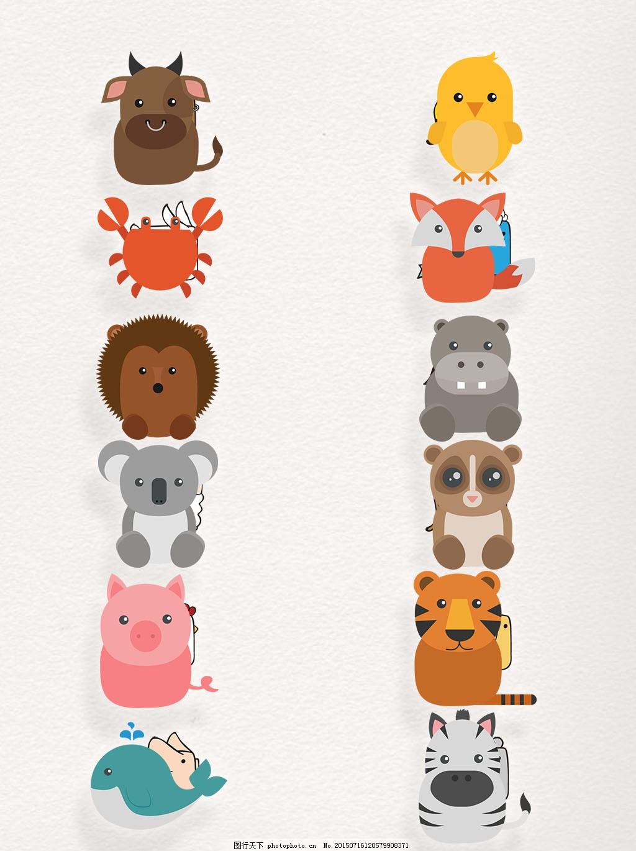 不同种类可爱动物萌化图片