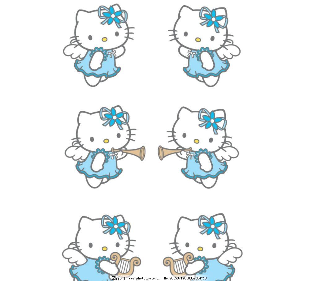 卖萌kt猫图片_动漫人物_动漫卡通_图行天下图库