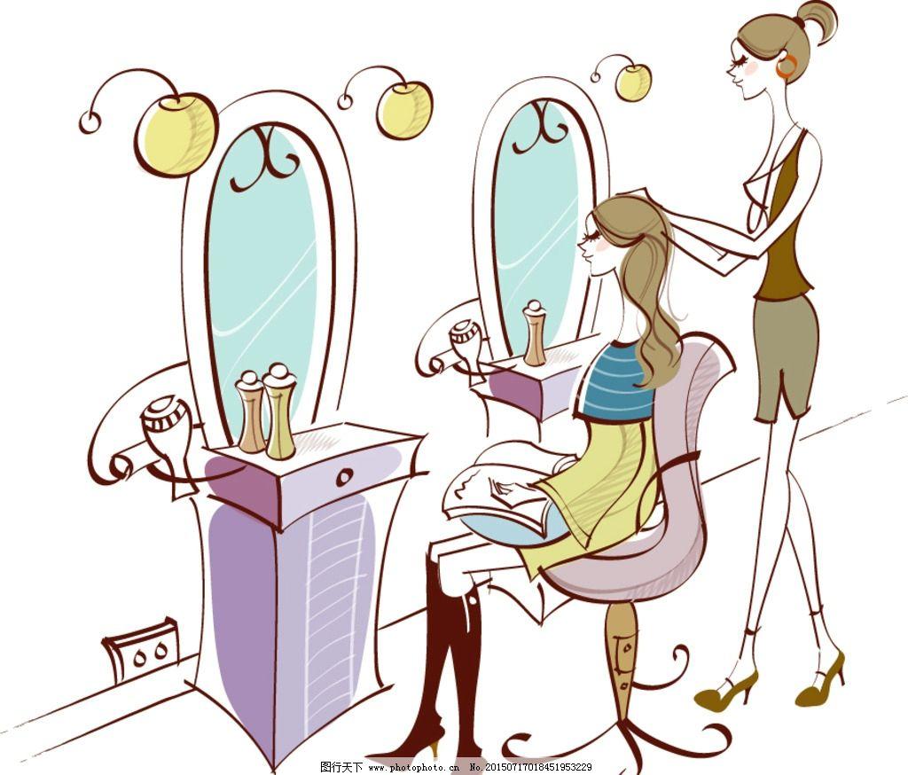 女孩美发 女孩做头发 美女美发 理发店 美发店 时尚生活 休闲生活