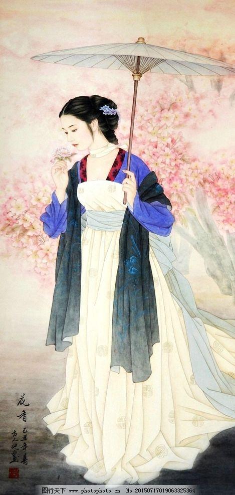 女子婚纱手绘图
