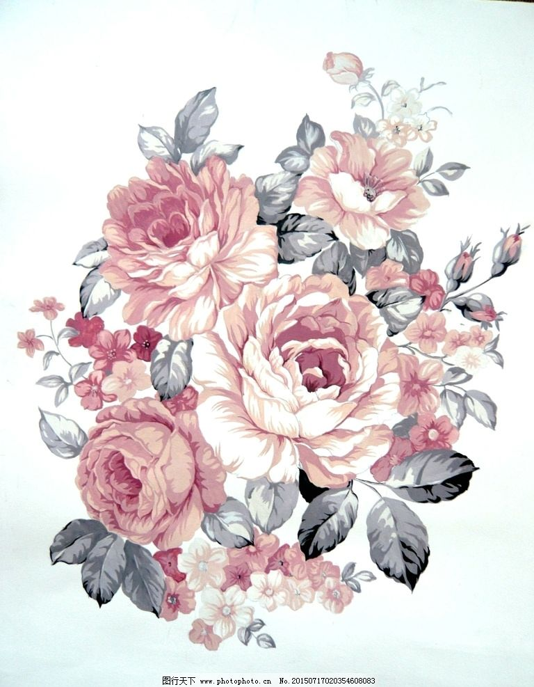 手绘 分光 花卉 高清 牡丹 床品花卉 服饰花卉 无画框 包装 陶瓷 设计