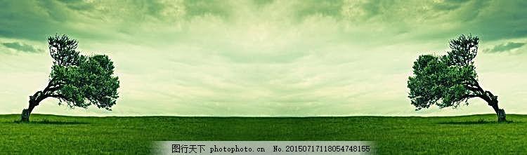淘宝环保banner背景图 白色