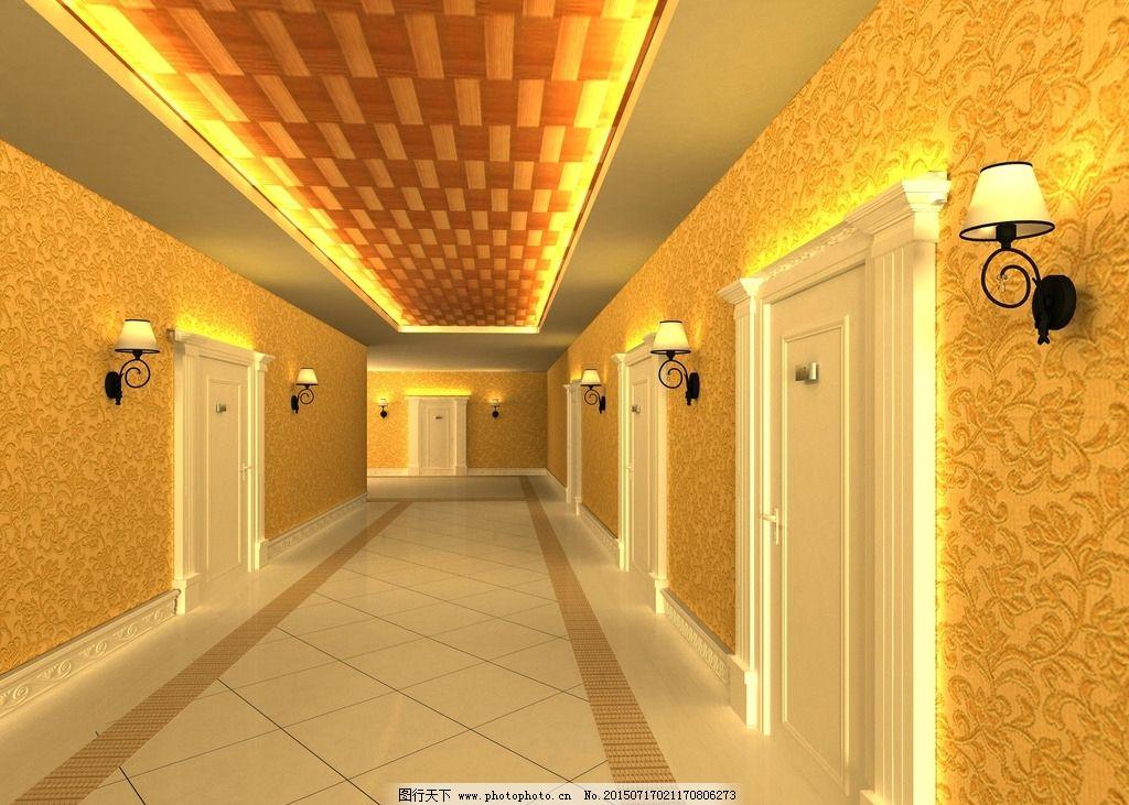 美容院 室內裝飾 走廊 奢華 3d效果圖 設計 3d設計 3d設計 max