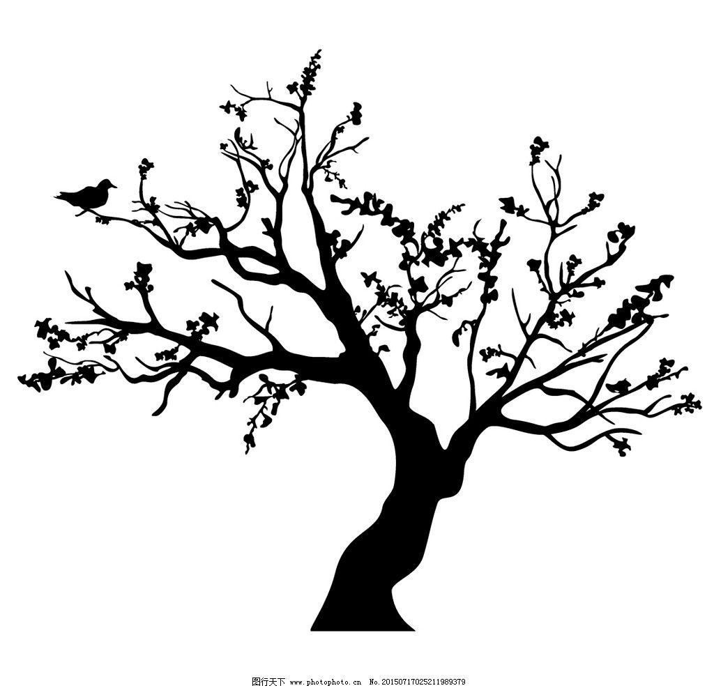 树木 树叶 手绘树木 树木贴图 植物 生物世界 矢量 eps 设计 生物世界