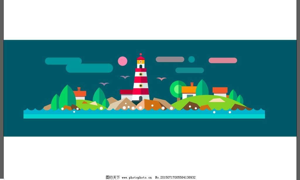 banner 背景 扁平化 房子 几何 卡通 色块 淘宝 卡通 背景 矢量 淘宝