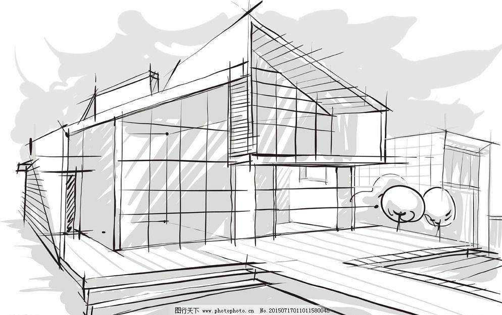 手绘建筑图片_建筑设计_装饰素材_图行天下图库