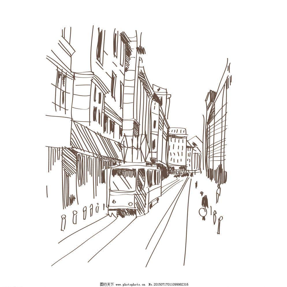 手绘建筑图片免费下载 eps 城市建筑 绘画书法 建筑 建筑家居 建筑