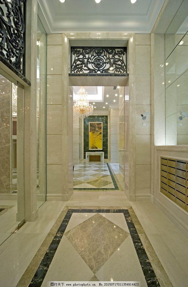 350dpi jpg 环境设计 暖色调 欧式 设计 室内设计 首层电梯大堂 欧式