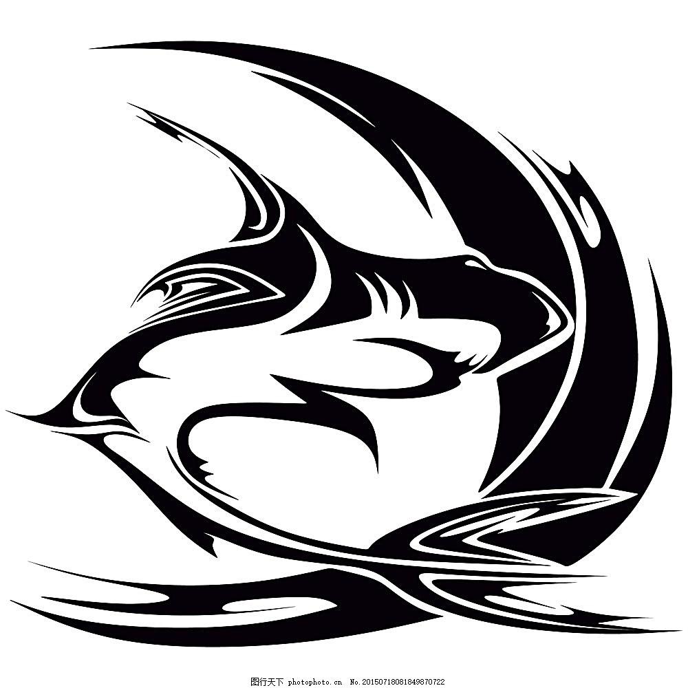 鲨鱼图案 卡通鲨鱼 矢量动物 动物插画 陆地动物 生物世界 矢量素材