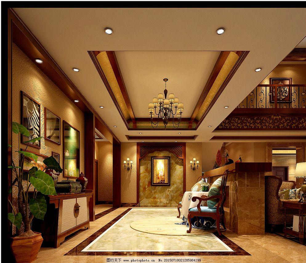 室内模型        休息区 休息区 休闲区        画面背景墙 吊顶 欧式